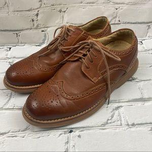 Softmoc motion men's dress shoes camel brown